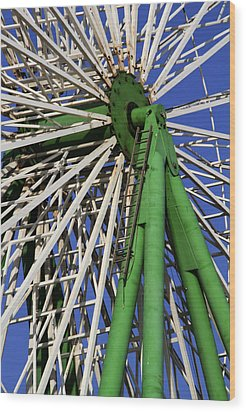 Ferris Wheel  Wood Print by Stelios Kleanthous