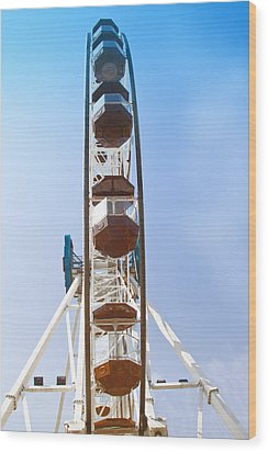 Wood Print featuring the pyrography Ferris Wheel by Susi Stroud