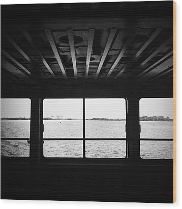 Ferry Window Wood Print by Eli Maier