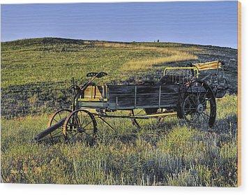 Fertilizer Spreader Wood Print by Stephen  Johnson