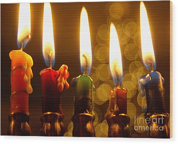 Wood Print featuring the photograph Festival Of Lights by Linda Mesibov