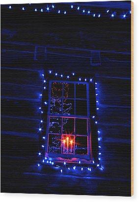 Festive Lights Wood Print