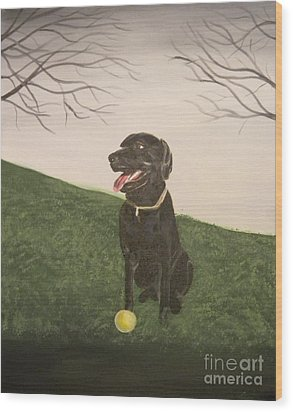 Fetch Wood Print