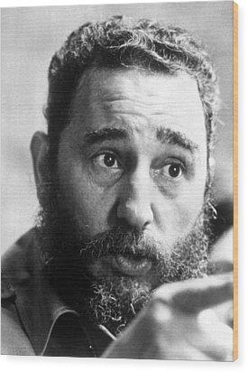 Fidel Castro, Circa 1977 Wood Print by Everett