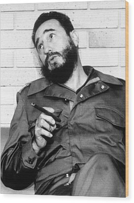 Fidel Castro, In 1974 Wood Print by Everett