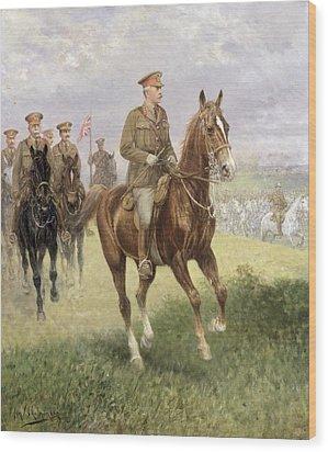 Field Marshal Haig Wood Print by Jan van Chelminski