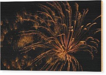 Fiery Wood Print by Rhonda Barrett