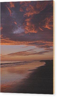 Fiery Skies Wood Print by Sandy Fisher