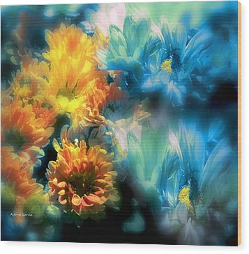 Wood Print featuring the photograph Fiesta Floral by Alfonso Garcia