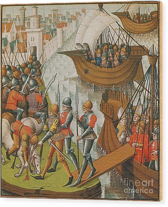 Fifth Crusade Siege Of Damietta 1218 Wood Print by Photo Researchers