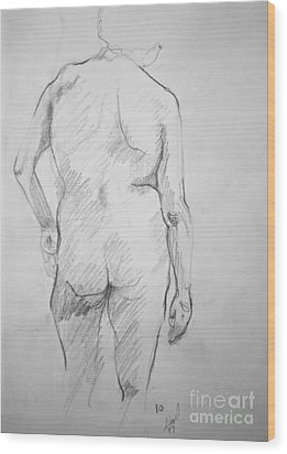 Figure Study Wood Print by Rory Sagner