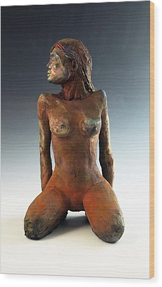 Figure Study Two Front View Wood Print by Alejandro Sanchez