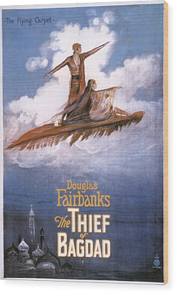 Film: The Thief Of Bagdad: Wood Print by Granger