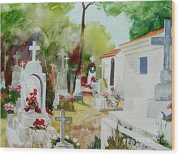 Wood Print featuring the painting Final Resting Place by Tom Riggs