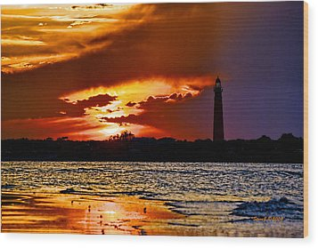 Final Sunset Ponce Lighthouse Wood Print by Stephen  Johnson