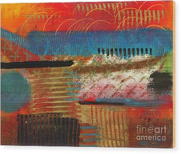 Finding My Way Wood Print by Angela L Walker