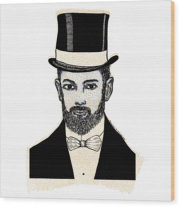 Fine Scholar Wood Print by Karl Addison