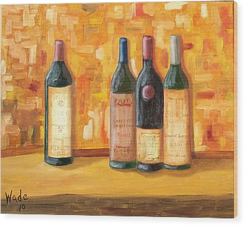 Fine Wine Selection Wood Print by Craig Wade