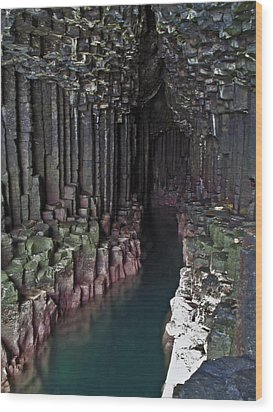 Fingal's Cave Wood Print by Steve Watson