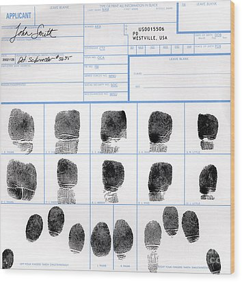 Fingerprint Identification Application Wood Print by Science Source