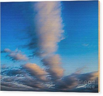 Fingers In Heaven Wood Print by Jeremy Linot