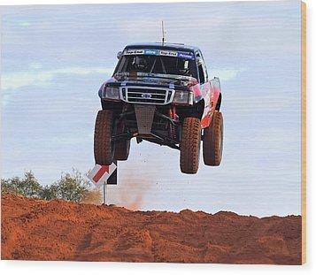 Wood Print featuring the photograph Finke Desert Racer by Paul Svensen