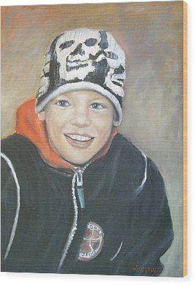Finnish Boy Commission Wood Print