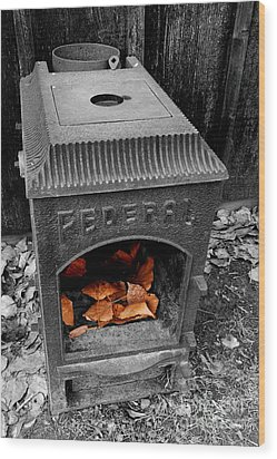 Fire Box Wood Print by Steven Milner