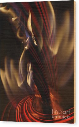Wood Print featuring the digital art Fire Dance by Johnny Hildingsson