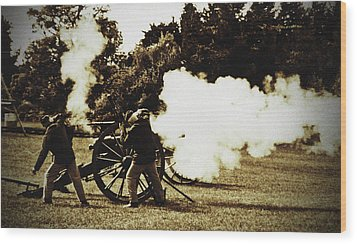 Wood Print featuring the photograph Fire by Randall  Cogle