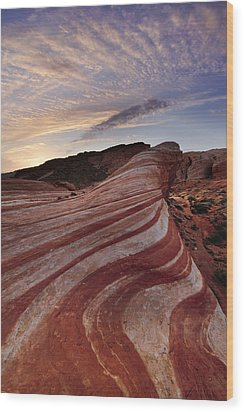Fire Wave Wood Print by Joseph Rossbach
