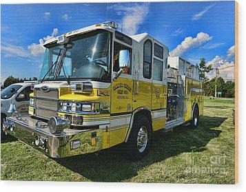 Fireman - Amwell Valley Fire Co. Wood Print by Paul Ward