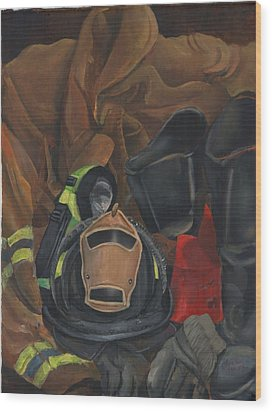 Fireman Personalized Wood Print