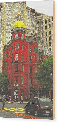Firemans Building Wood Print