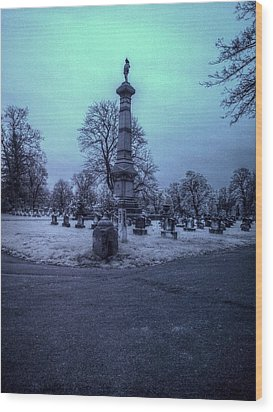 Firemans Monument Infrared Wood Print by Joshua House