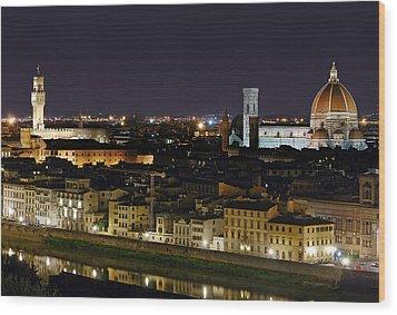 Firenze Skyline Wood Print
