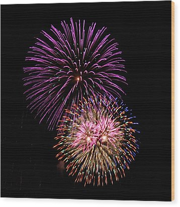 Firework Eyes Wood Print by Chris Anderson