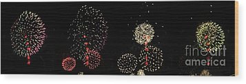 Firework Lifecycle 3 Wood Print by Meandering Photography