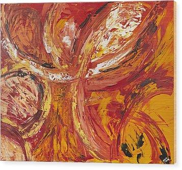 Firework Wood Print by Thomas Kleiner