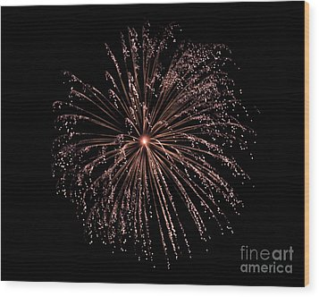 Wood Print featuring the photograph Fireworks 3 by Mark Dodd