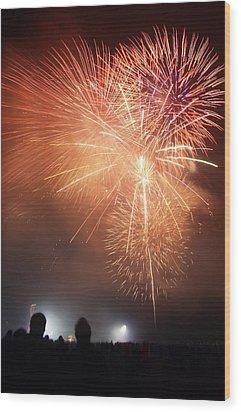 Fireworks Display Wood Print by Cordelia Molloy