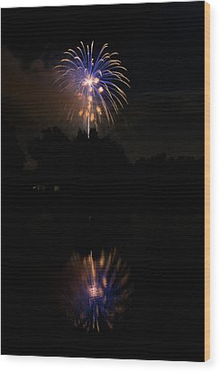Fireworks Reflection Wood Print by James BO  Insogna