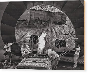 Firing The Burners Wood Print by Bob Orsillo