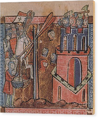 First Crusade Germ Warfare Siege Wood Print by Photo Researchers