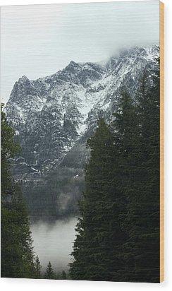 First Day In Glacier Wood Print by Amanda Kiplinger