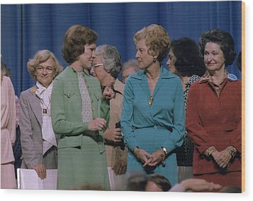 First Ladies Rosalynn Carter With Betty Wood Print by Everett