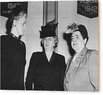 First Lady Bess Truman Attending Wood Print by Everett
