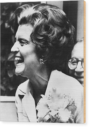 First Lady Betty Ford�s Campaigning Wood Print by Everett