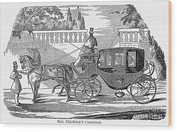 First Lady Carriage, 1851 Wood Print by Granger