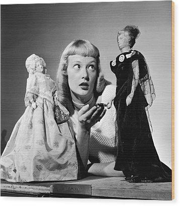 First Lady Dolls Wood Print by Grundy